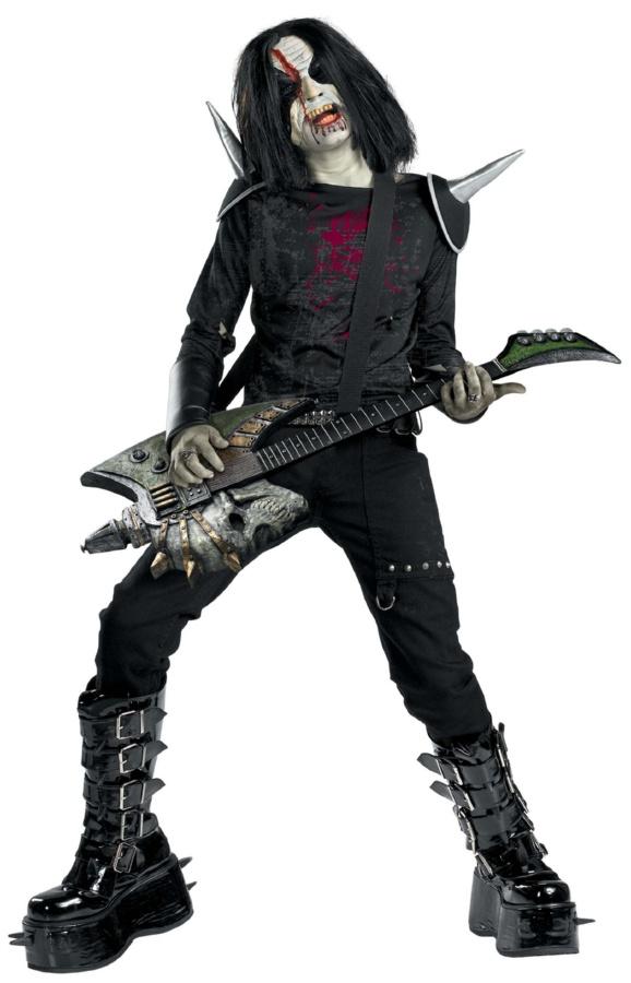 déguisement halloween de rocker