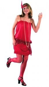 deguisement charleston rouge