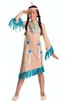 deguisement indienne apache bleu