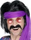 fausse moustache hippie