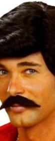 Fausse moustache et postiche