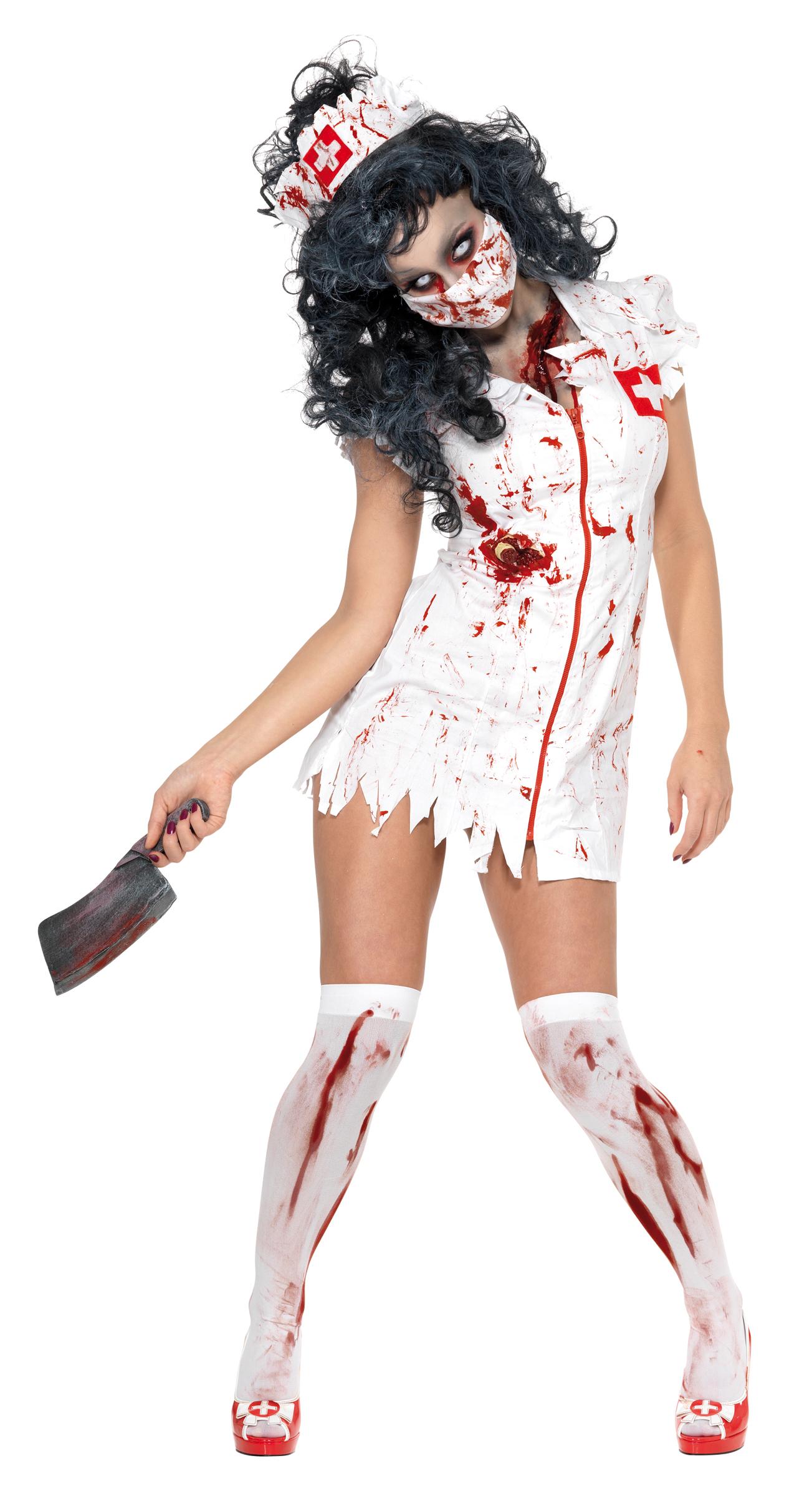 d guisement infirmi re halloween robe infirmi re zombie. Black Bedroom Furniture Sets. Home Design Ideas