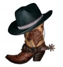 chapeau et bottes de cowboy