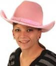 chapeau rose cowboy femme