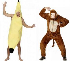 déguisement couple banane et singe