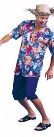 Déguisement hawaien en chemise