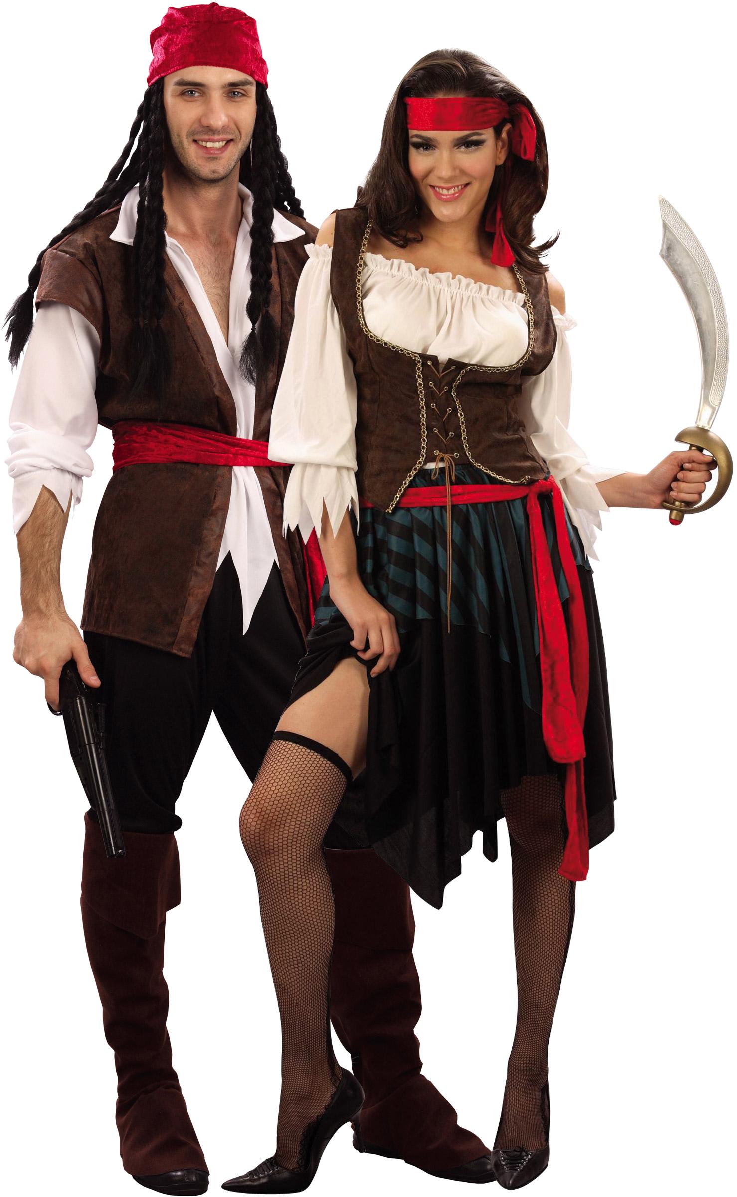 d guisement couple pirate costume de pirate pour deux assorti couple. Black Bedroom Furniture Sets. Home Design Ideas