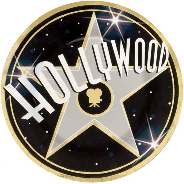 Assiette jetable Hollywood