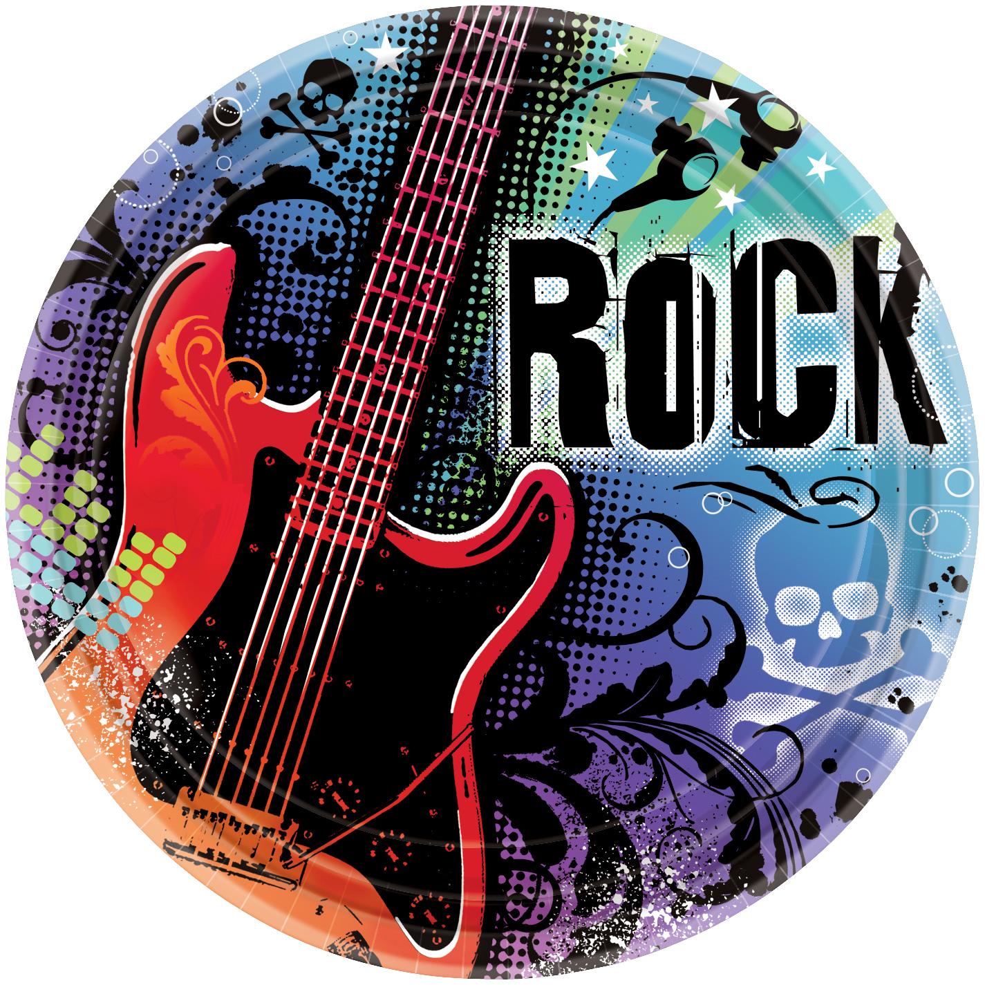 Assiette rock avec guitare