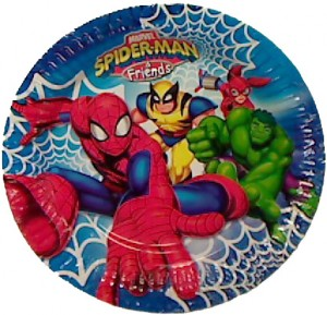 assiette spiderman