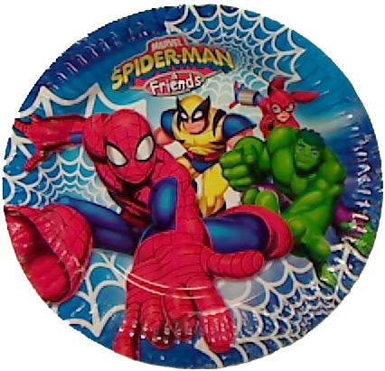 Assiette anniversaire Spiderman
