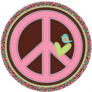 assiettes hippie