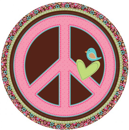 Assiette hippie