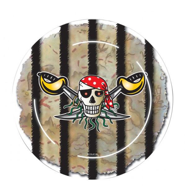 Assiette pirate en carton