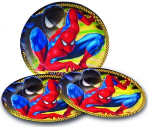 assiettes spiderman