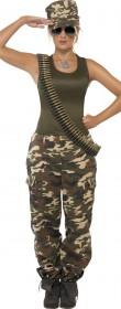 Déguisement soldat militaire femme