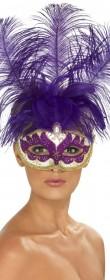 Masque carnaval à plumes