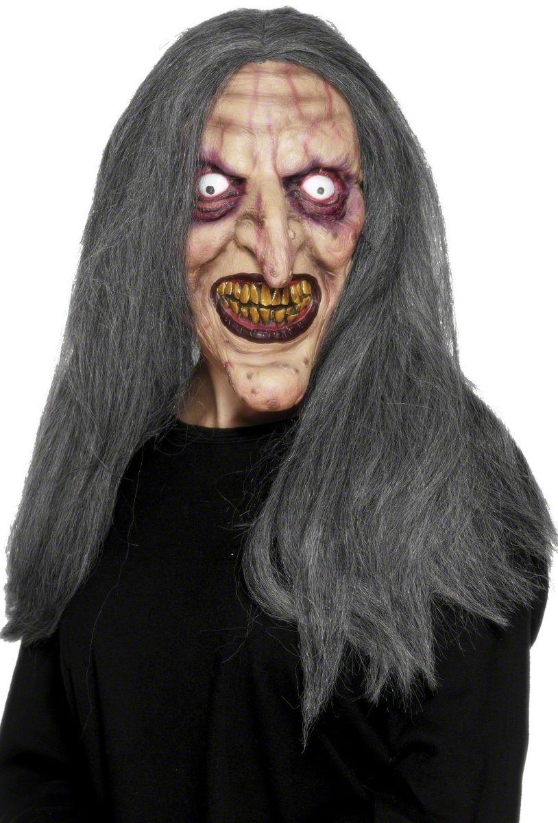 masque de sorci re halloween avec cheveux dpc f te. Black Bedroom Furniture Sets. Home Design Ideas