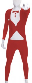 Morphsuit rouge adulte