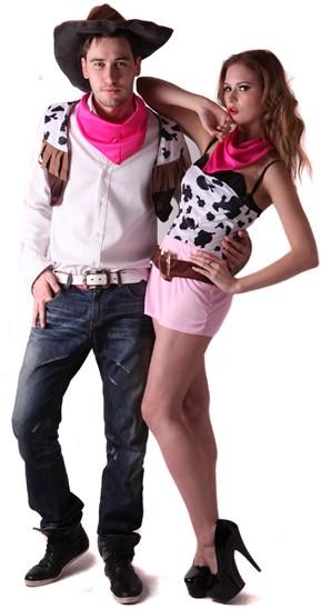 Déguisement couple cowboy