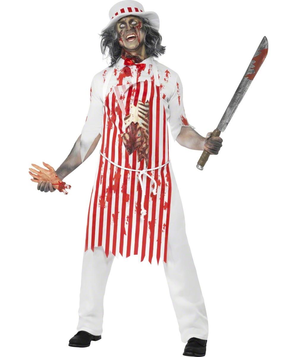 D guisement zombie original costume boucher homme halloween - Costume halloween homme original ...