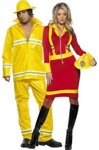 Déguisement couple pompiers