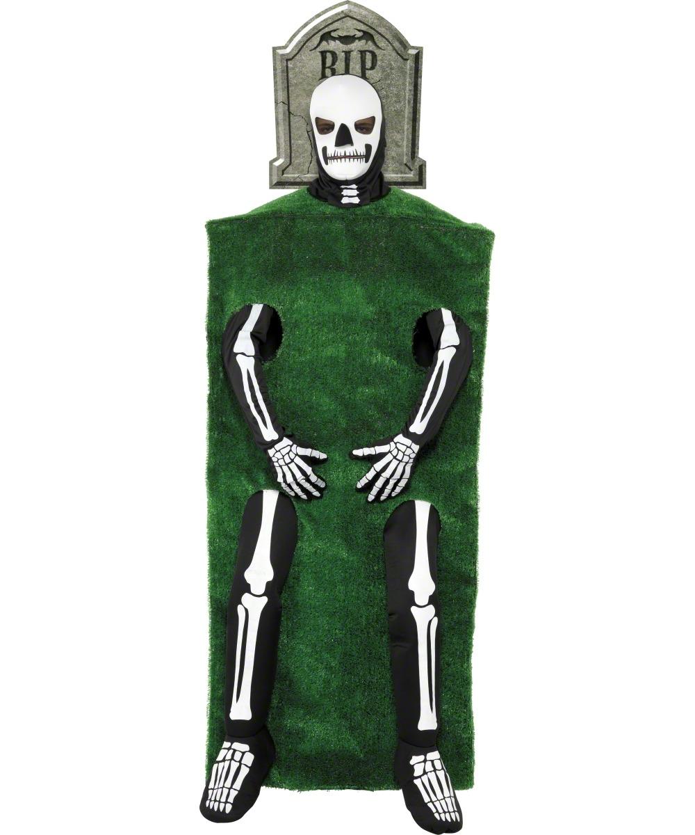 Déguisement squelette et tombe