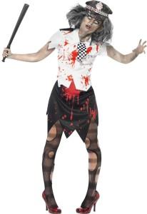 deguisement zombie policière