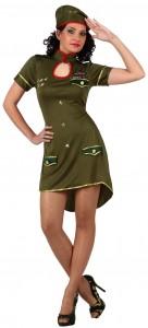 Deguisement femme militaire