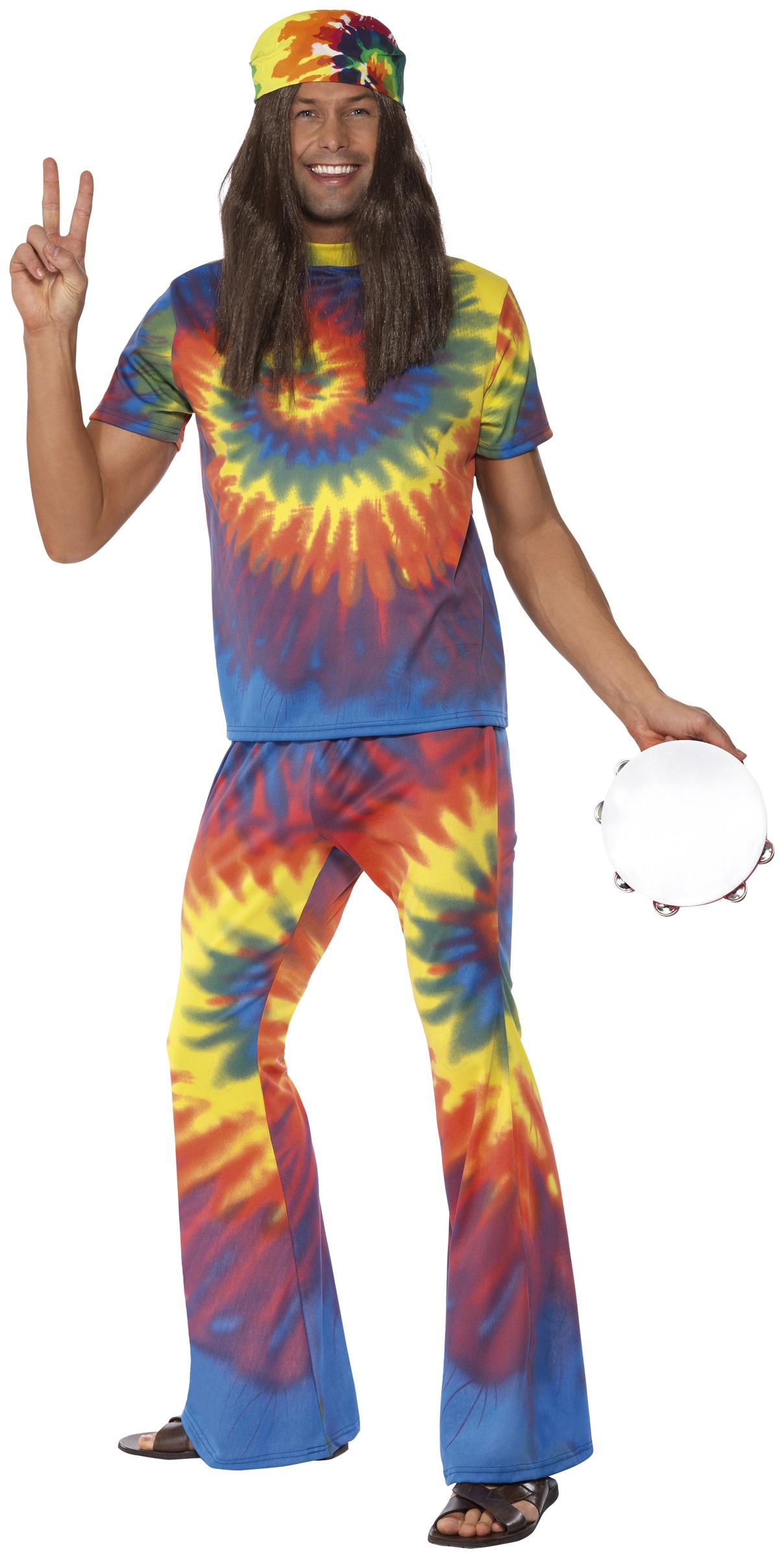 Déguisement années 60 homme   Costume hippie bariolé 0121ebddaf50