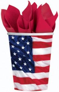 gobelet drapeau americain