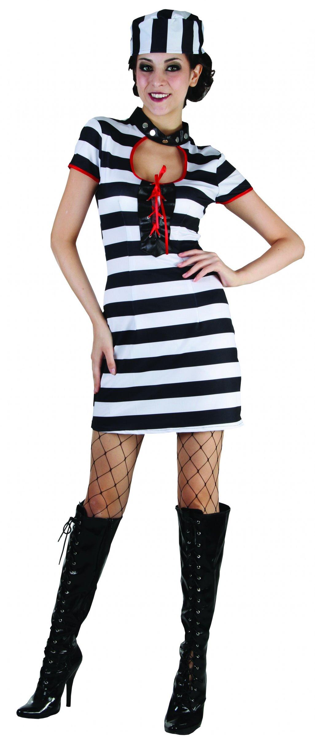 uniforme prisonnier femme dpc f te article de f te pas cher. Black Bedroom Furniture Sets. Home Design Ideas