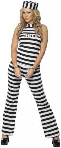 costume prisonnière femme