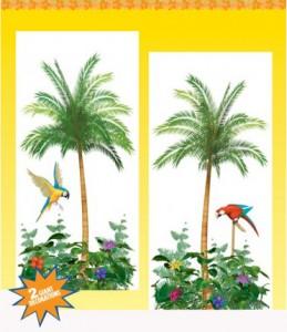 decos murales palmiers