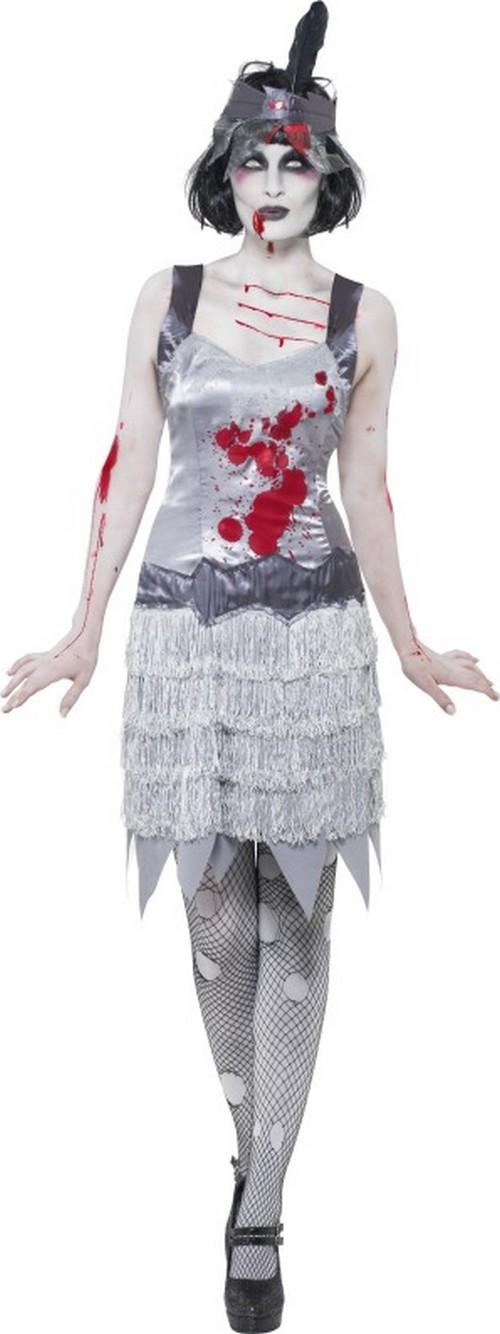 d guisement zombie femme charleston robe mort vivant. Black Bedroom Furniture Sets. Home Design Ideas