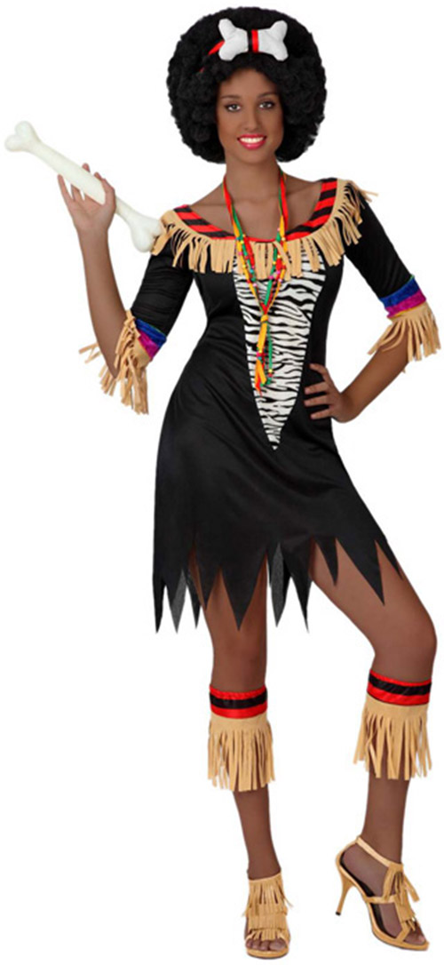 d guisement africaine costume zoulou tribal cannibale. Black Bedroom Furniture Sets. Home Design Ideas