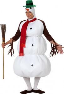 deguisement bonhomme de neige adulte