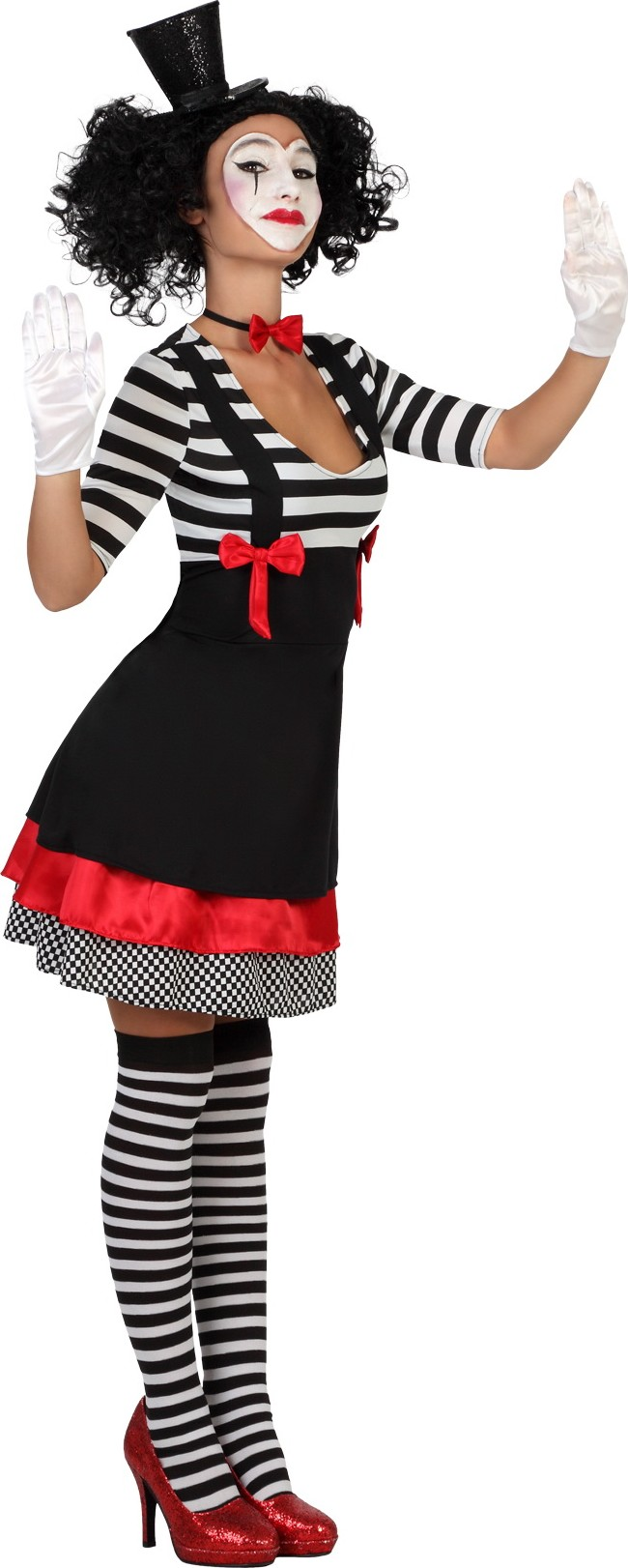 d guisement de mime femme costume cirque
