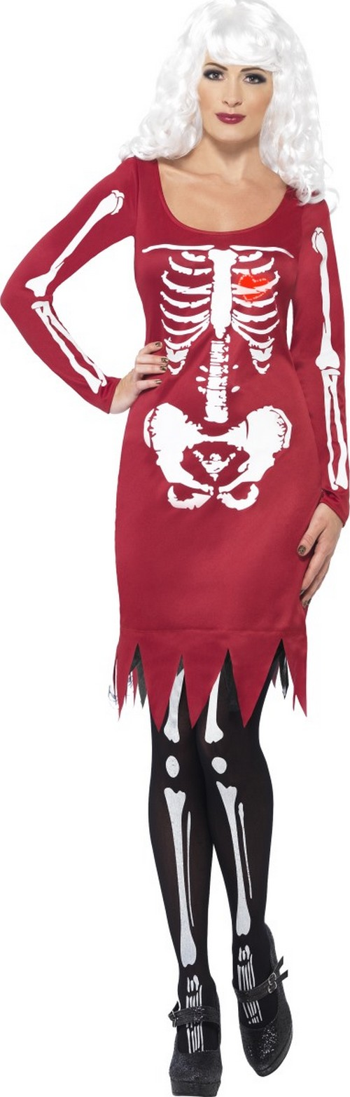 robe squelette rouge